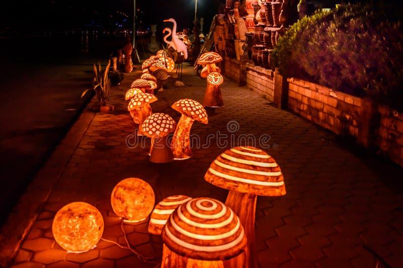 Schönes Licht in der Nacht lizenzfreie stockfotos