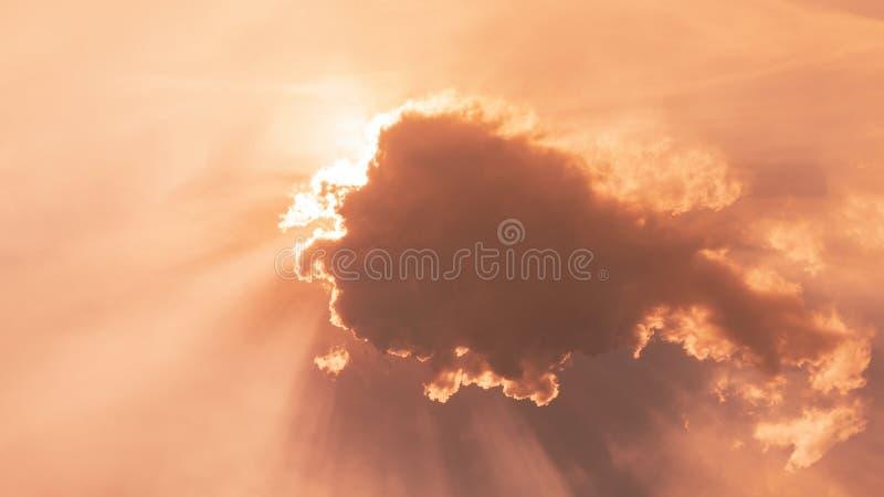 Schönes Licht des überraschenden Lichtes der Sonne des Naturhintergrundes lizenzfreie stockfotografie