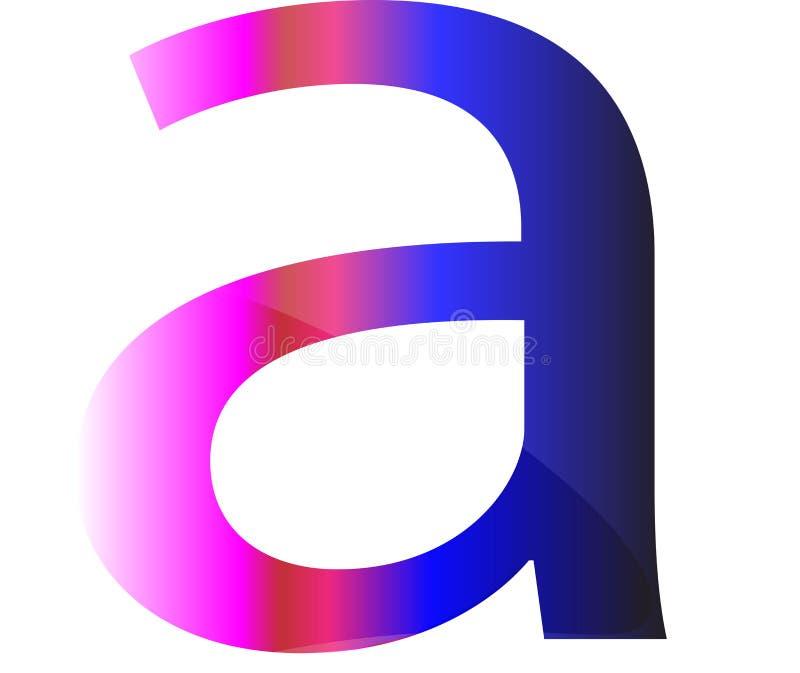 Schönes Logo, das ein Wort entwirft lizenzfreie abbildung