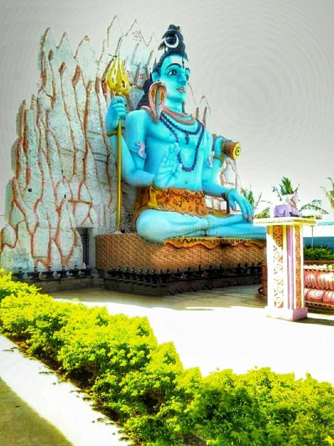 Schönes Lord Shiva bhole Kuchenbild stockfotografie