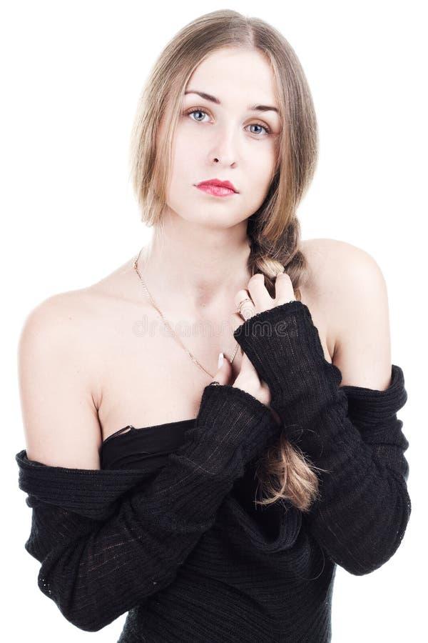 Schönes Mädchen in der Art von glamor stockbilder