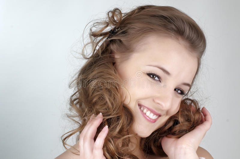 Schönes Mädchen-Gesicht lizenzfreie stockbilder