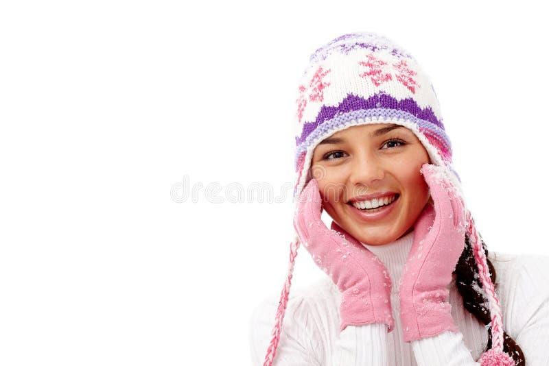 Schönes Mädchen lokalisiert auf weißem Hintergrund stockfotografie