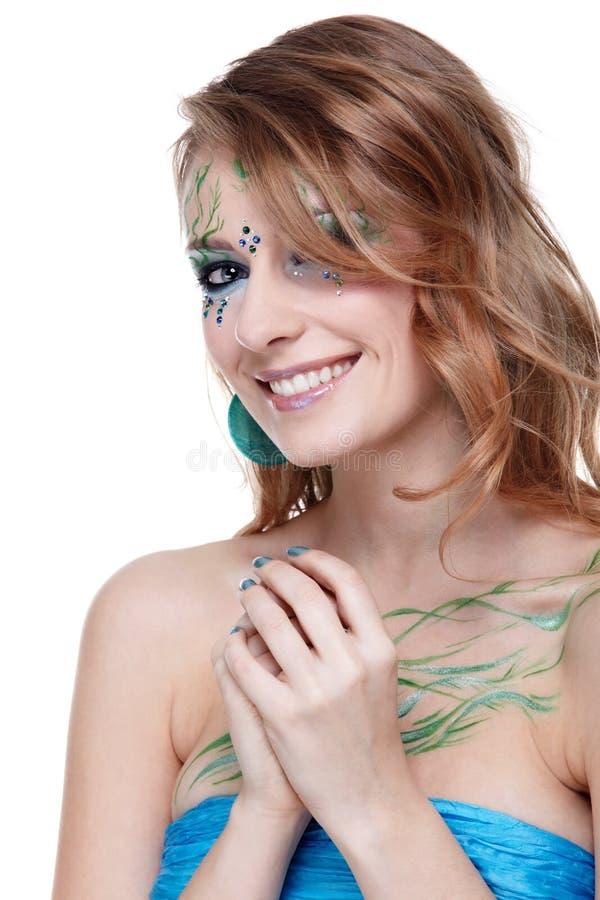 Download Schönes Mädchen Mit Bodyart Stockbild - Bild von attraktiv, menschlich: 9099041