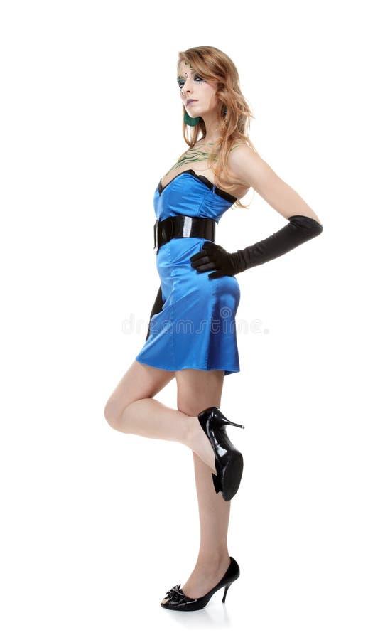 Download Schönes Mädchen Mit Bodyart Stockfoto - Bild von grün, menschlich: 9099224