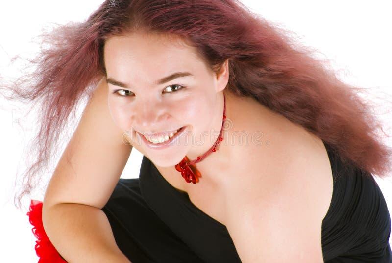Schönes Mädchen mit dem sehr langen und gesunden Haar lizenzfreies stockbild