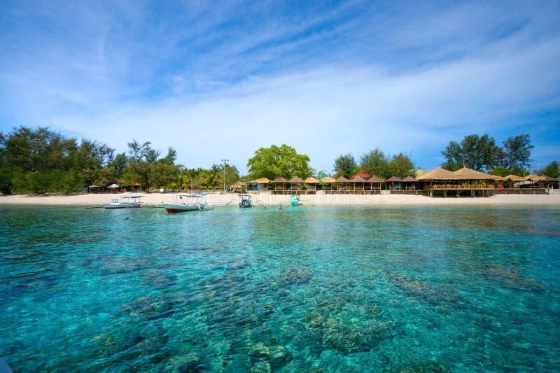 Schönes Meer bei Gili Meno, Indonesien. lizenzfreie stockbilder