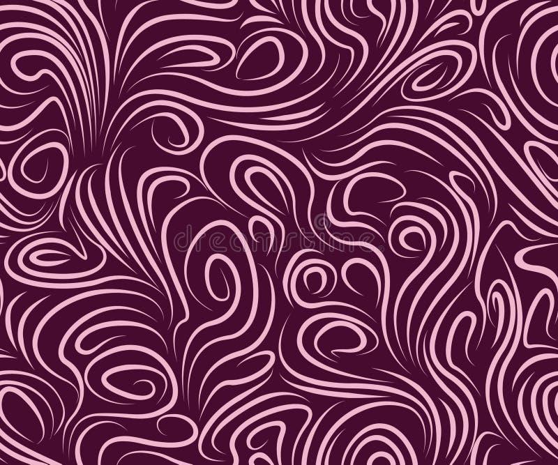 Schönes nahtloses in den purpurroten Tönen stock abbildung