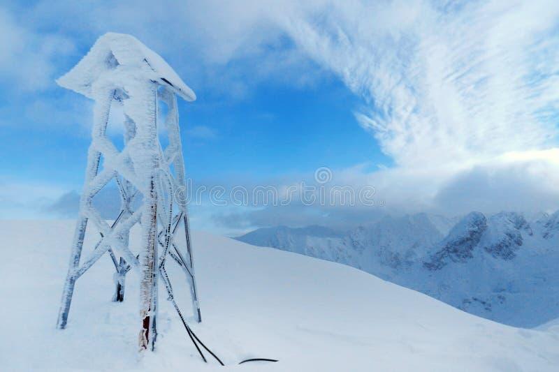 Schönes Panorama von Winter Tatra-Bergen schnee stockfotos
