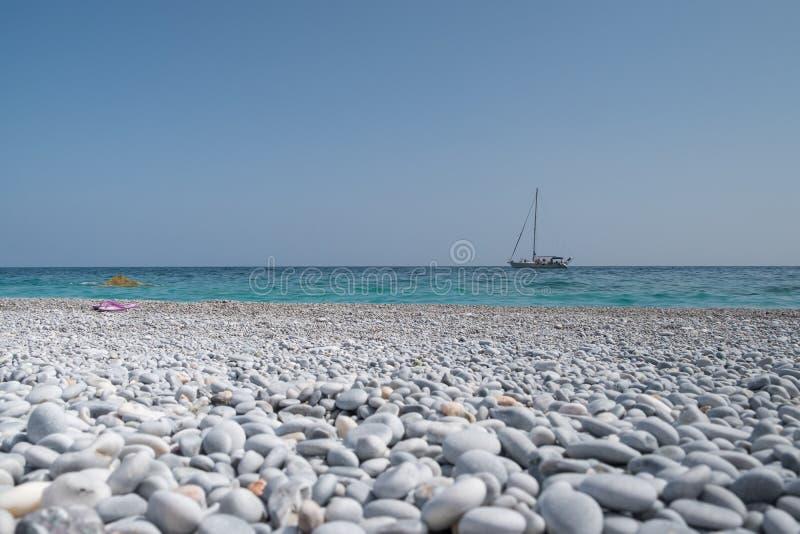 Schönes Pebble Beach lizenzfreie stockfotos