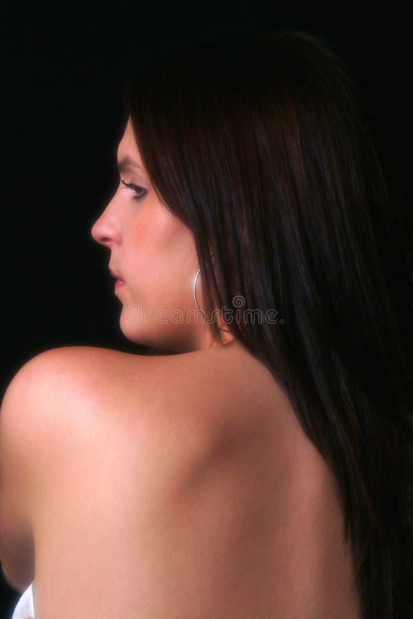 Schönes rückseitiges Portrait lizenzfreie stockfotos