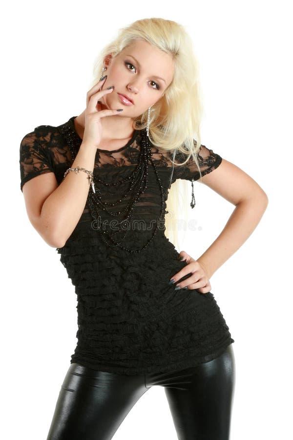 Schönes, reizend blondes Mädchen stockfotografie