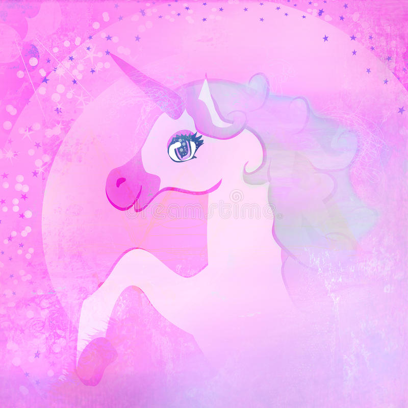 schönes rosa Einhorn. lizenzfreie abbildung