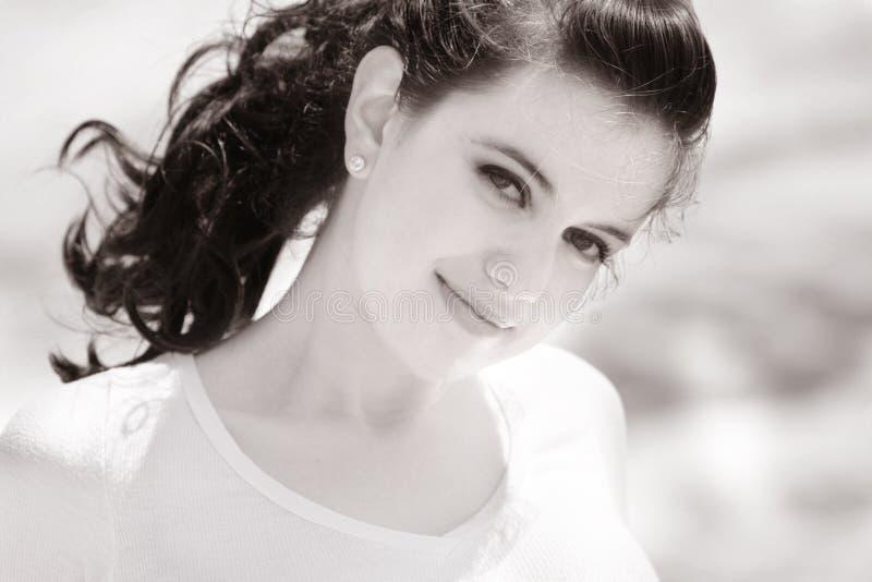 Schönes süßes Mädchen stockfotografie