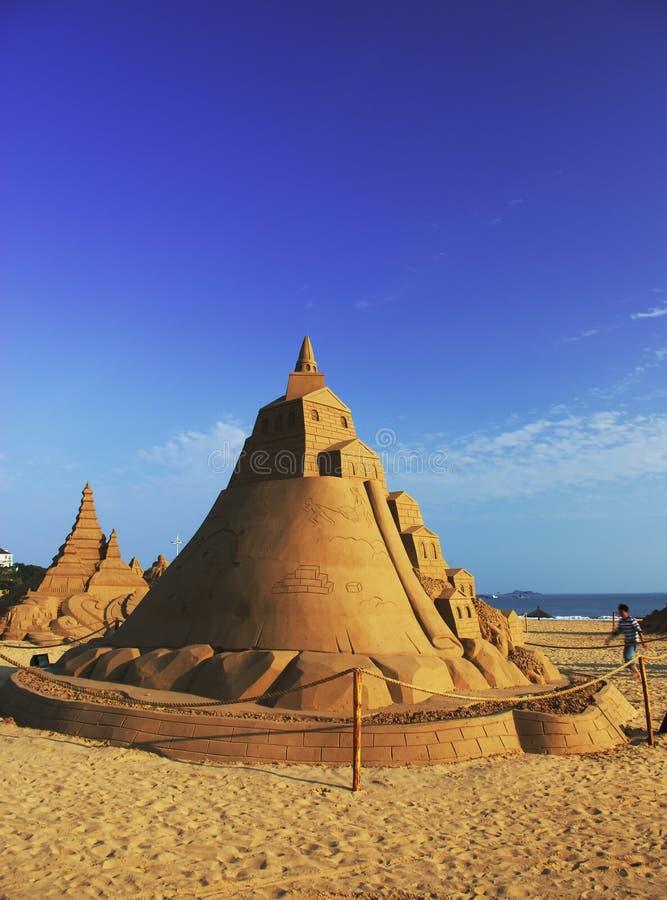 Schönes Sand-Schloss lizenzfreies stockbild