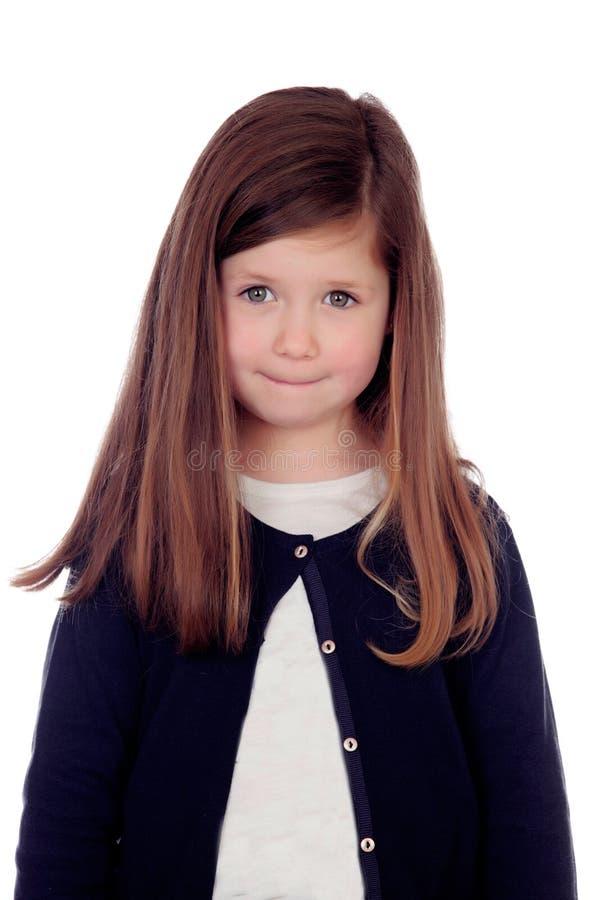 Schönes schüchternes Kind stockfotos