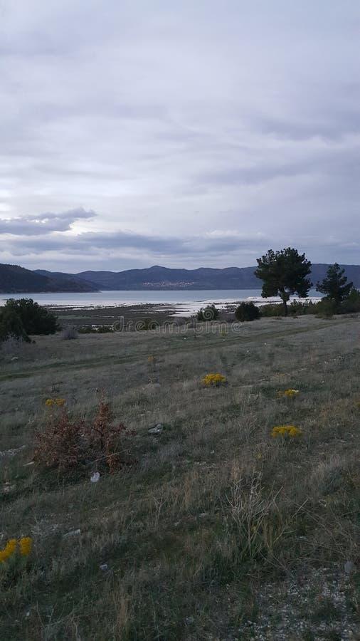 Schönes See wiew stockbilder