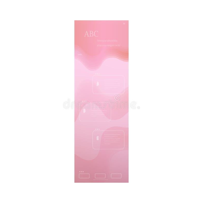 Schönes Seiten-Websitedesign des Pastells einer für Geschäft stock abbildung