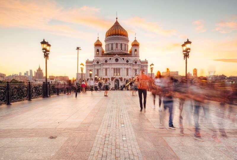 Schönes Stadtbild mit Kathedrale von Christus der Retter lizenzfreies stockbild