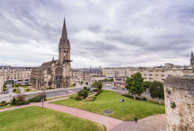 Schönes Stadtbild von Caen, Frankreich stockfotos