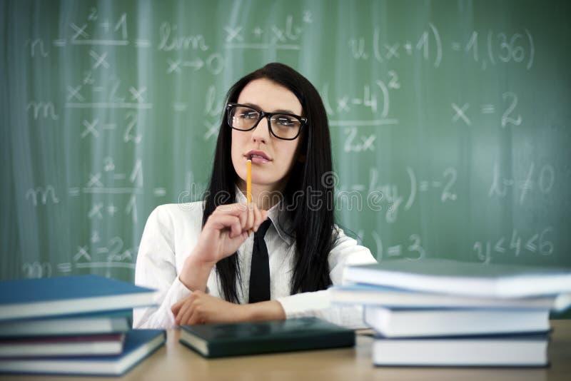 Schönes Studentenmädchen lizenzfreies stockbild