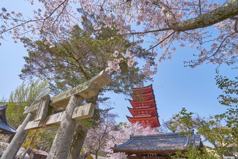 Schönes szenisches von Senjokaku und von fünf-berühmten Pagode lizenzfreie stockfotos