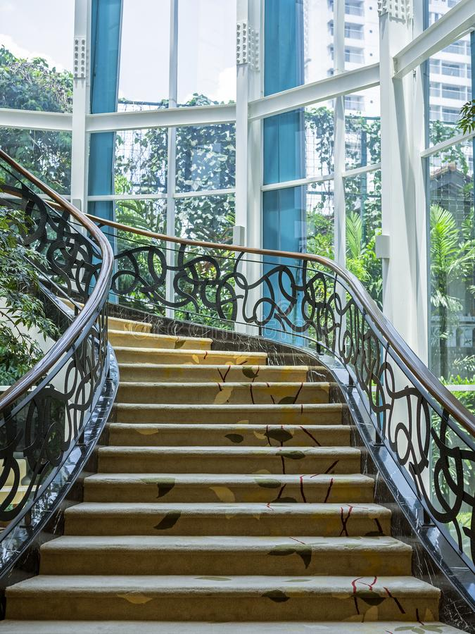 Schönes Treppenhaus gelegen in Bandung, Indonesien stockfoto