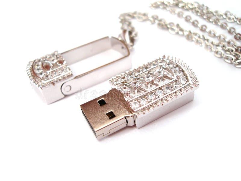 Schönes USB-Blinken auf Weiß lizenzfreie stockbilder