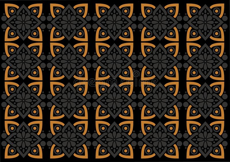 Sch?nes Verzierungsmuster Batikindonesiens vektor abbildung