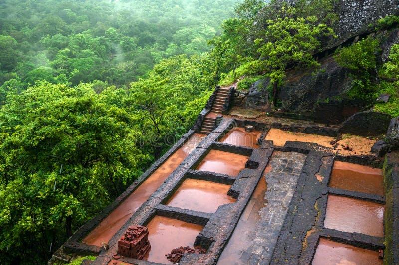 Schönes vew von Sigiriya Lion Rock, Sri Lanka stockfoto