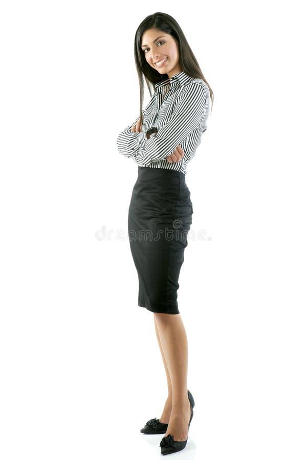 Schönes volles Karosserienfrauenportrait auf Weiß lizenzfreie stockfotos