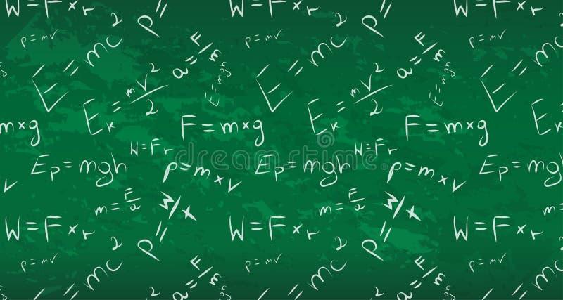 Schönes wallpape Fahne des nahtlosen Hintergrundes der Physiktafel stock abbildung
