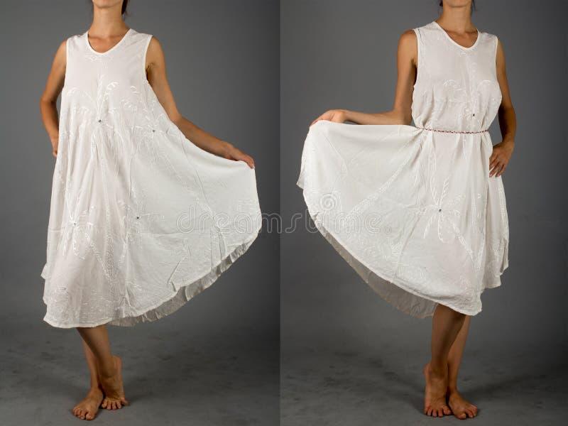 Schönes Weißes Kleid Mit Orientalischer Verzierung Stockfoto - Bild ...