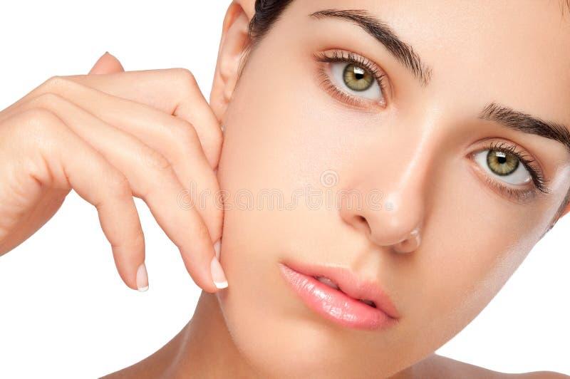 Schönes weibliches Gesicht lizenzfreies stockbild