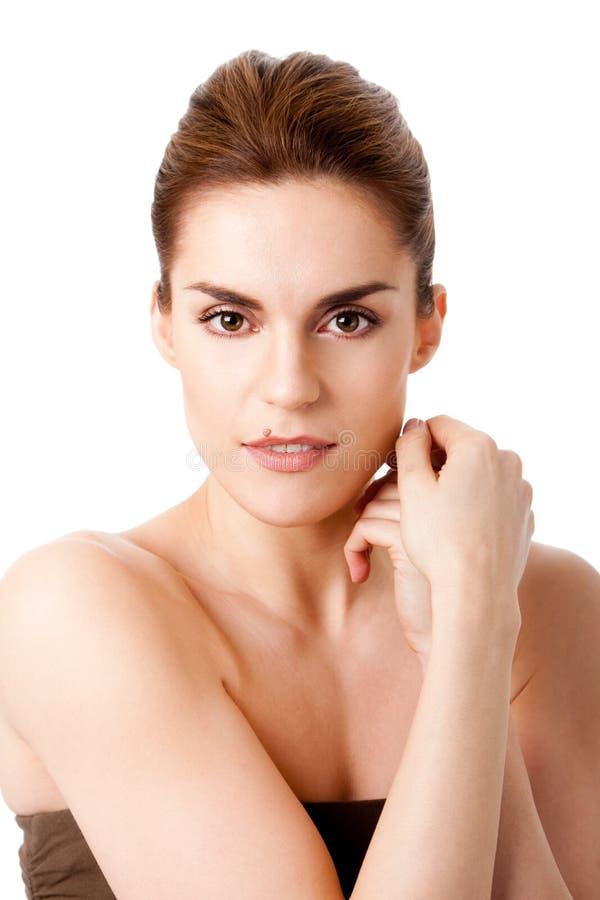 Schönes weibliches Gesicht lizenzfreie stockfotografie
