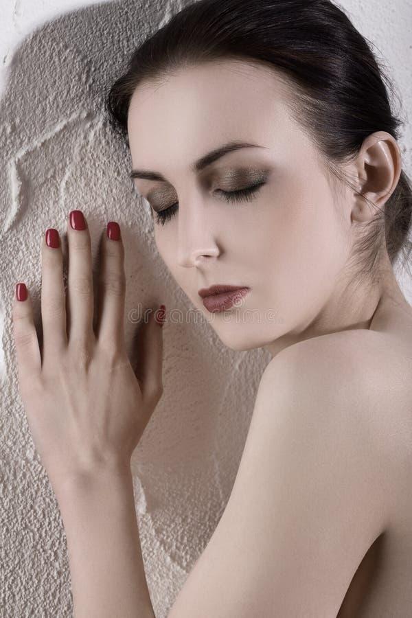 Schönes weibliches Portrait stockfotos
