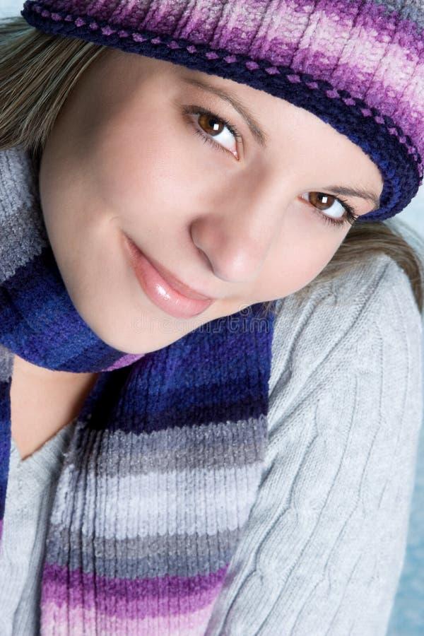 Schönes Winter-Mädchen lizenzfreies stockbild