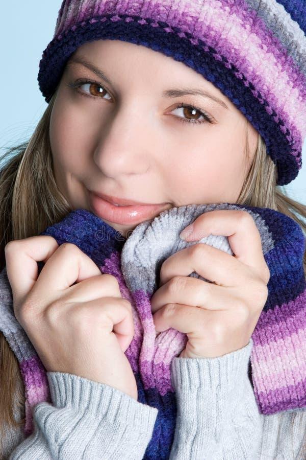 Schönes Winter-Mädchen lizenzfreie stockfotografie