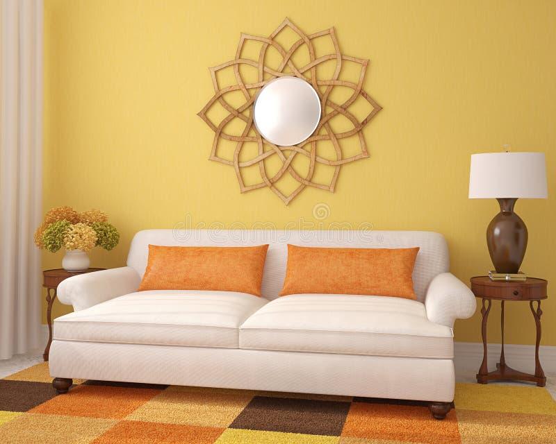 Download Schönes Wohnzimmer. stock abbildung. Illustration von dekor - 26362418
