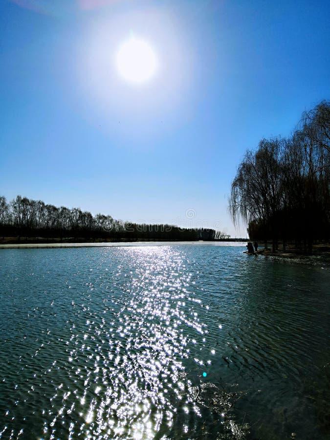 Schönes Yongding-Flusssteuerbares Xiaoqing River lizenzfreie stockfotos
