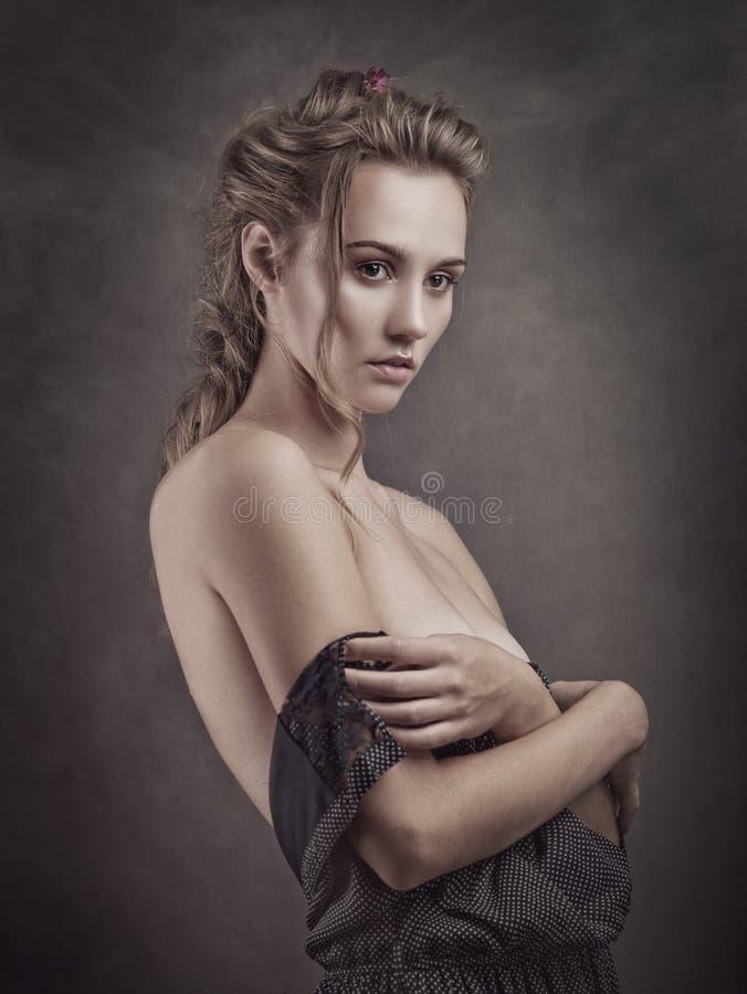 Schönheit blondie stockbilder