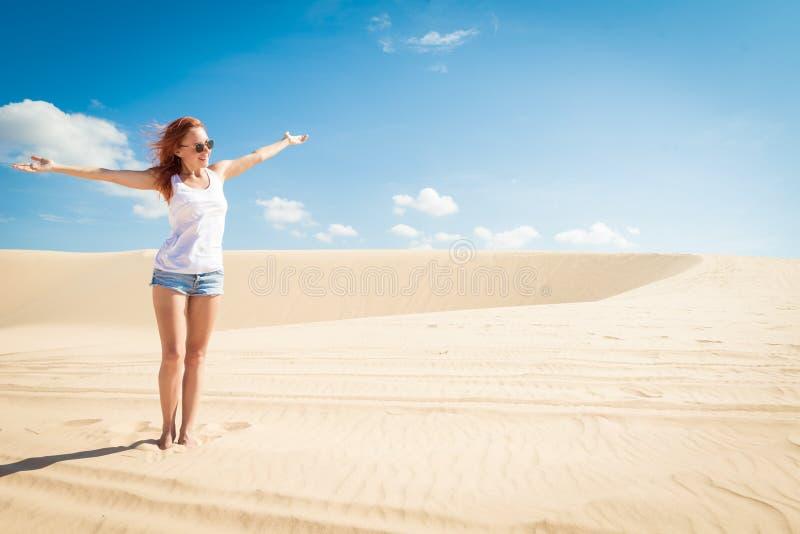 Schönheit in den Sanddünen stockfoto