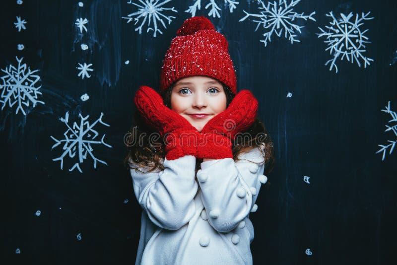 Schönheit der Wintermode lizenzfreies stockfoto