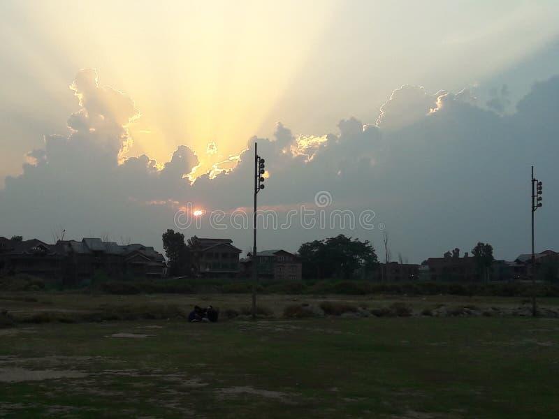 Schönheit des Sonnenuntergangs stockfotos