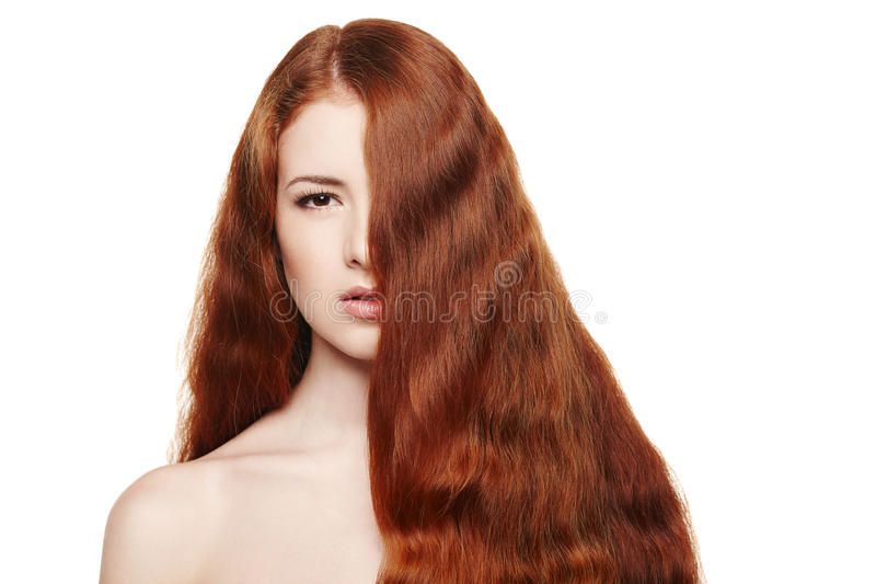 Schönheit mit dem roten Haar stockfotografie
