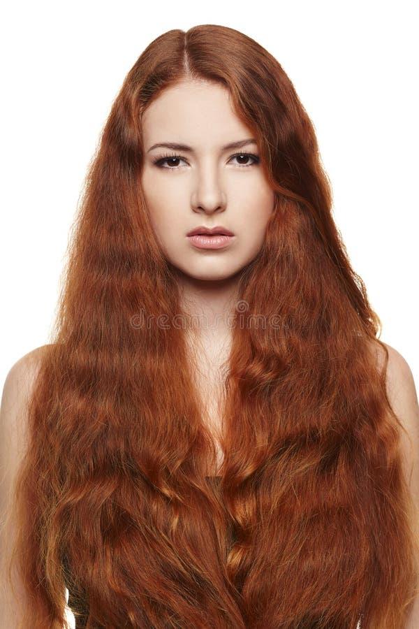 Schönheit mit dem roten Haar stockbilder