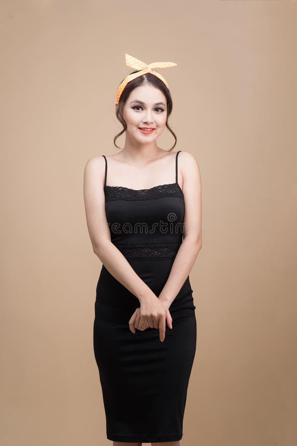Schönheit Pinup-Artporträt Asiatische Frau lizenzfreie stockbilder