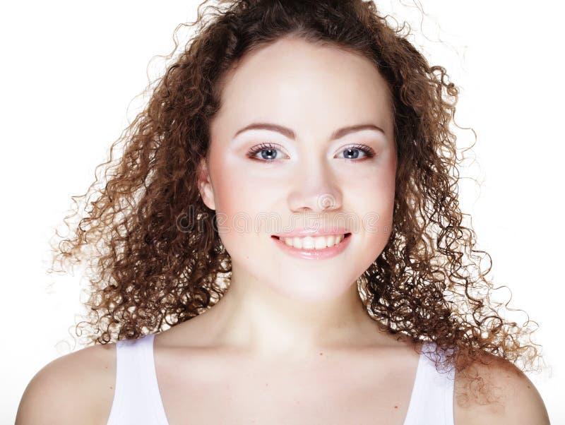 Schönheit ` s Gesicht mit sauberer Haut lizenzfreie stockbilder