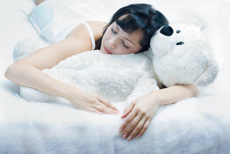 Schönheit-schlafen Sie stockbild