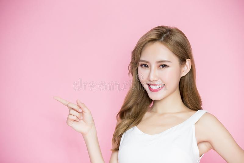 Schönheit skincare Frau stockfotografie